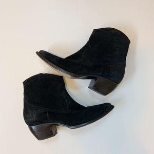 FRYE Sacha Short Suede Bootie Black Size 9